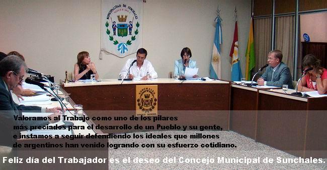 El Concejo, también presente en el Día del Trabajador.