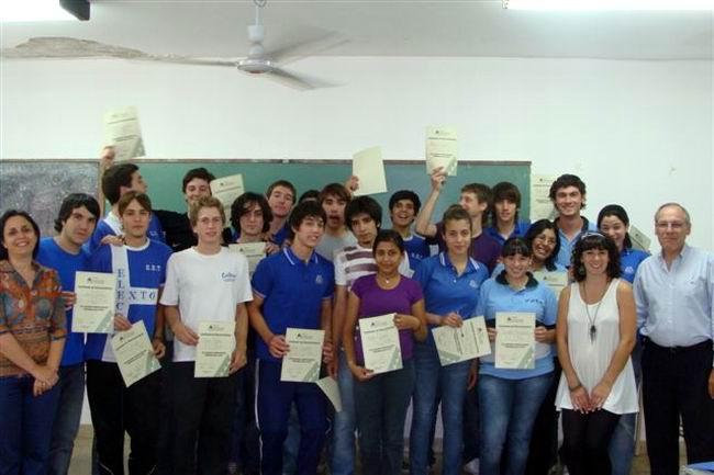 ºLos alumnos que completaron la capacitación.