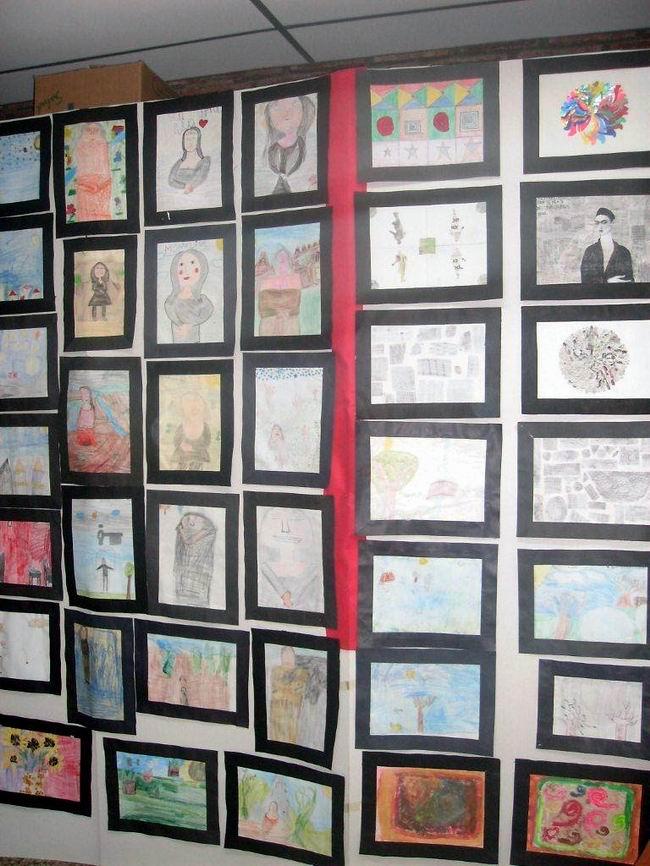 Los dibujos de los chicos también estuvieron presentes (Foto: Prensa escuela).