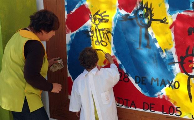 El jard n materno infantil municipal celebr su d a for Azul naranja jardin de infantes