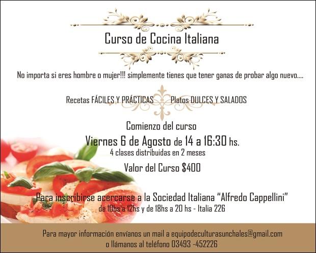 Sociedad italiana sunchaleshoy sunchales todos los d as - Curso de cocina italiana madrid ...