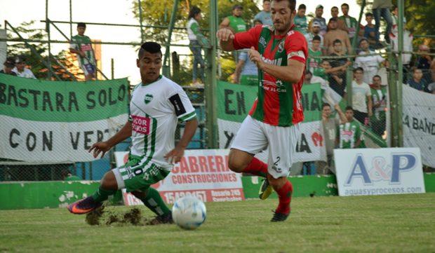 "La ""Joya"" López, autor del gol del triunfo albiverde."