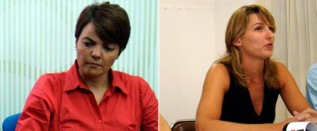 Gloria Gallardo y Cecilia Ghione, dos mujeres que podrían enfrentarse por la intendencia.