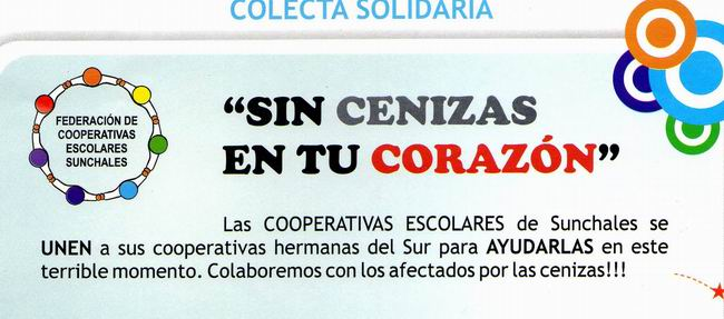 Detalle de uno de los afiches que promocionan la campaña solidaria.