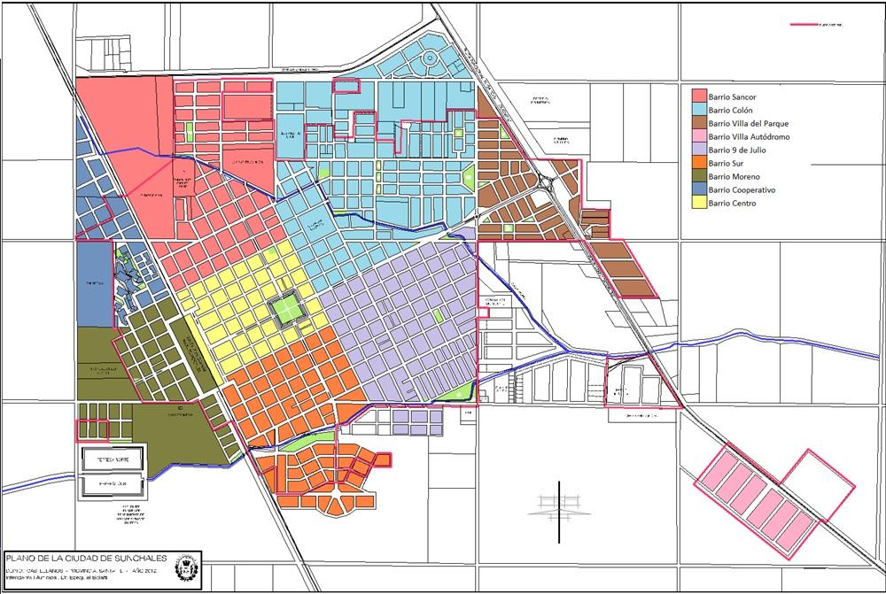 Los barrios, actualizados | SunchalesHoy - Sunchales todos