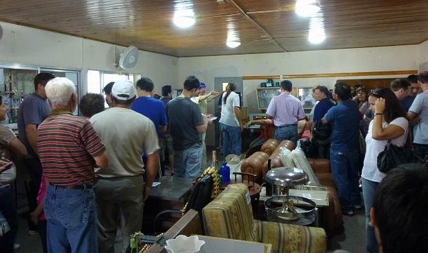 Un momento del evento de días atrás en la sede vecinal del barrio SanCor (Prensa Rotary).