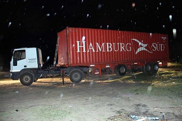 El camión secuestrado con droga (Foto: Diario Uno).