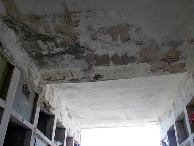 El estado de preocupación y peligro del Cementerio, donde no se efectúan trabajos de mantenimiento hace años (Prensa Soem).