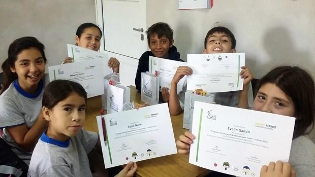 Los alumnos participantes del programa implementado (Foto: Grupo Sancor Seguros).