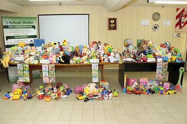 Los juguetes entregados en la tarde de ayer (Prensa Mutual Unión).